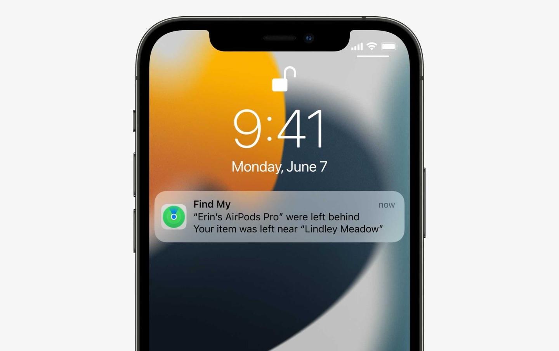 Apple iOS 15, Find My