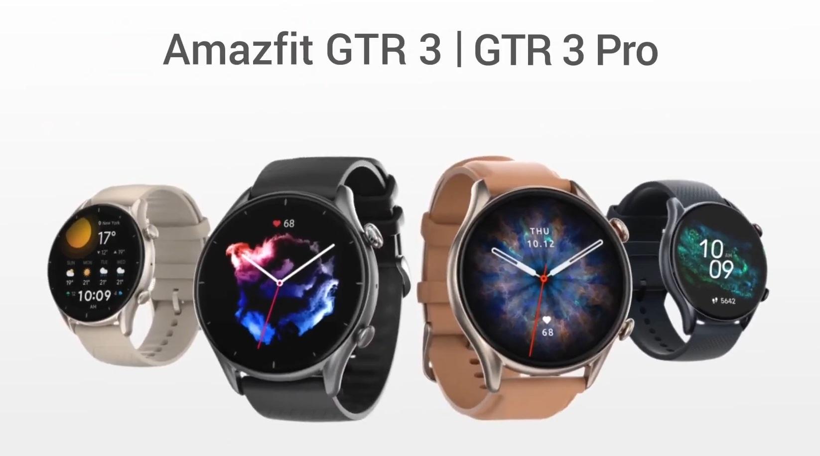 Amazfit GTR 3 und GTR 3 Pro